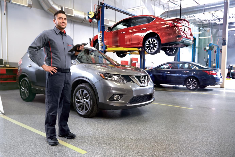 Nissan service technician